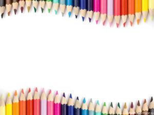 Цветные карандаши. Шаблон PowerPoint для детских презентаций