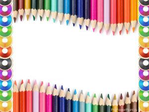 Цветные карандаши. Шаблон PowerPoint