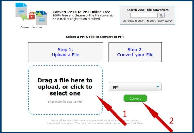Онлайн конвертер pptx в ppt