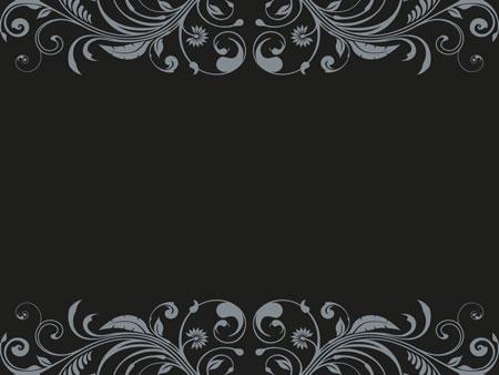 Темный абстрактный шаблон с вензелями