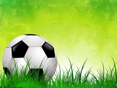 Футбол. Спотривный шаблон для презентаций