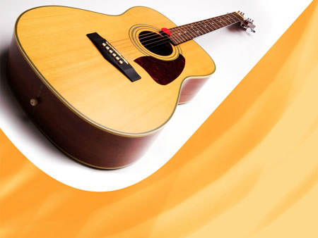 Гитара. Шаблон для музыкальных презентаций