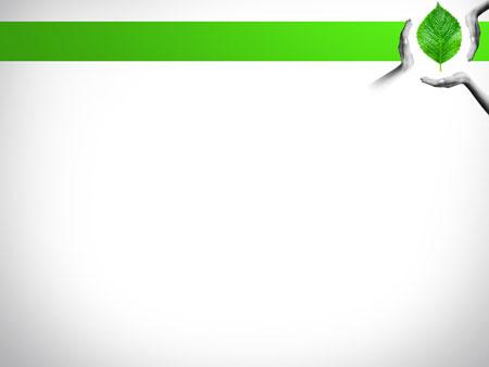Шаблон для презентаций Зеленый лист