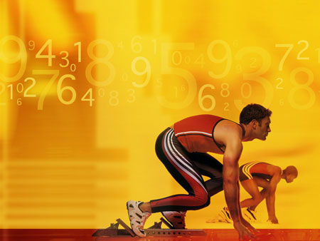 Спринтер. Шаблон для пррезентаций о спорте