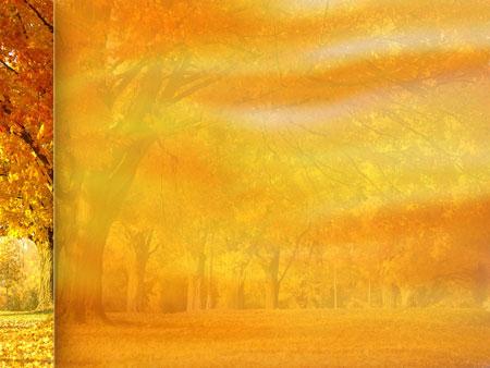 Золотая осень. Шаблон для презентаций