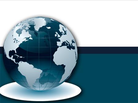 Шаблон по географии Глобус
