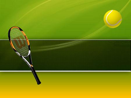Большой теннис. Спортивный шаблон PowerPoint