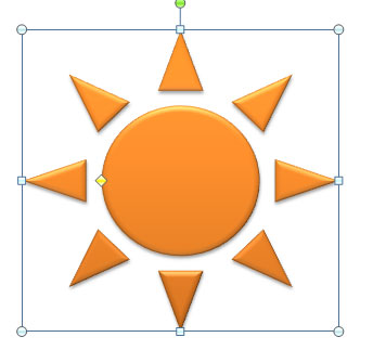Оранжевое солнышко.