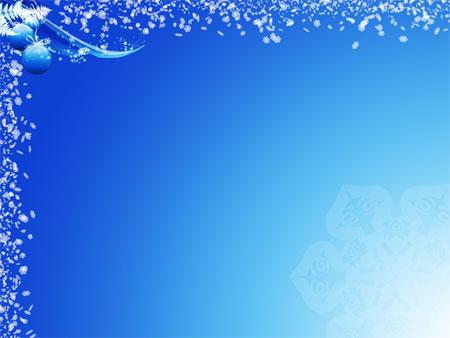 Новогодний шаблон для презентаций в сине-голубых тонах