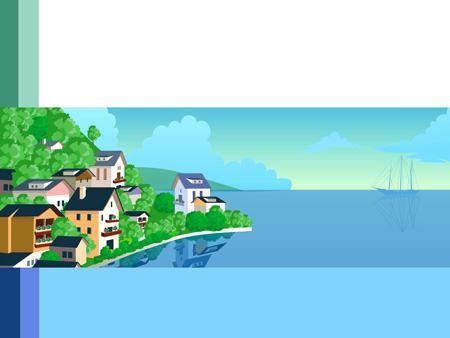 Голубой шаблон для презентаций о море
