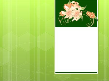Лилии. Цветочный шаблон для презентаций