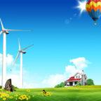 Шаблон для презентаций о ветряной энергии