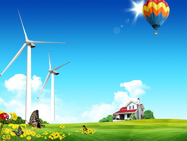 Ветряки. Шаблон для презентаций