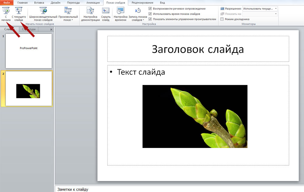 Как добавить gif на слайд PowerPoint