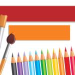 Кисти и карандаши. Шаблон для детских презентаций