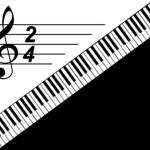 Клавиатура рояля. Музыкальный шаблон PowerPoint