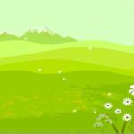 Светло-зеленый шаблон для детских презентаций