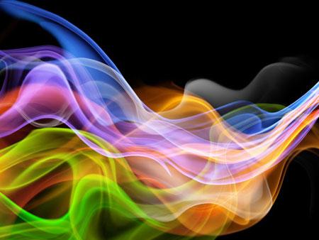 Разноцветное сияние. Абстрактный шаблон PowerPoint
