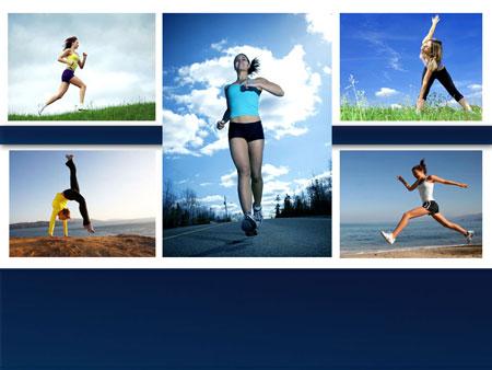 Быть в форме! Спортивный шаблон PowerPoint