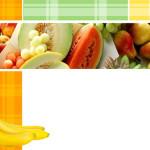 Анимированный шаблон с фруктами